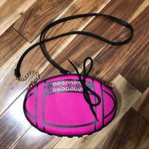 Betsey Johnson Pink Football Crossbody Bag NWOT